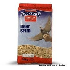 Bucktons Light Speed Pigeon Feed 20kg Bucktons Light Speed is high in easily digestible energy The feed is also especially useful for increasing stamina and overall performance.