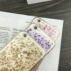 Foil Metal Flake iPhone 7 Soft Cases in Gold / Purple / Pink / Rose Gold / Blue / Silver