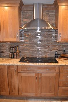 Metal Tile Backsplash Kitchen Design Ideas, Pictures, Remodel and Decor
