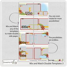 SWL - Mix and Match Double Templates 3