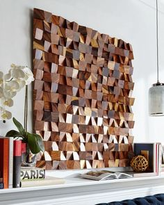 Make your own DIY Wood Wall Art from scrap lumber and get a high-end, art gallery look for just a few dollars! Teenage Room Decor, Art Diy, Diy Wall Art, Diy Wall Decor, Diy Wooden Wall, Wooden Walls, Wall Wood, Wall Décor, Diy Wand