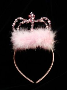 Light Pink Jeweled Princess Crown Tiara and Wand Set by Lil Princess. $8.95. This is the crowning touch for your little princess' fairy costume.  Diamond cut jewels and fine maribou feathers adorn the headband and wand top, giving them a whimsical and elegant look.  Headband stays secure during her dress up or playtime.  Wand is wrapped in satin and has beautiful organza and satin streamers.  A must have accessory for every little girl.