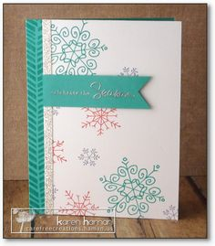 Bright Snowflakes kth by kthaman - Cards and Paper Crafts at Splitcoaststampers