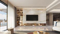 living room on Behance Living Room Tv Unit Designs, Best Living Room Design, Living Room Modern, Modern Tv Room, Living Rooms, Tv Cabinet Design, Tv Wall Design, House Design, Apartment Interior