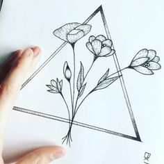 triangle and flowers