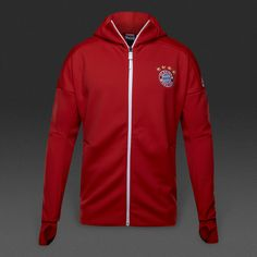 detailed pictures c6e19 3ee5c adidas Bayern Munich 16 17 Anthem ZNE Hoodie - True Red White