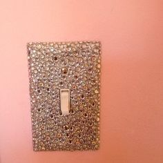Sparkly light switch cover(:
