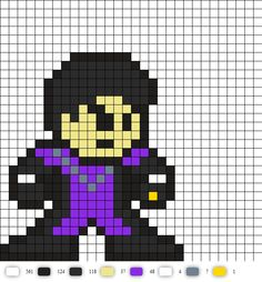 cosmic boy from legion of superheroes DC Perler Bead Pattern