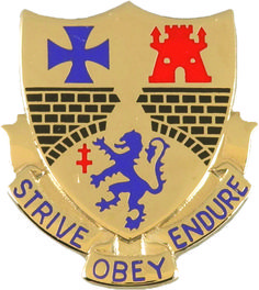 112th Infantry Unit Crest (Strive Obey
