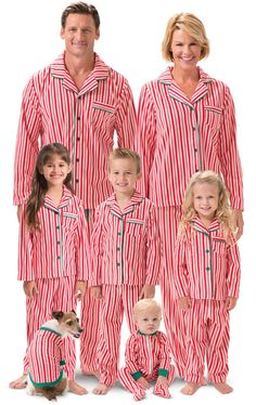 b1521287f6 Candy Cane Fleece Matching Family Pajamas