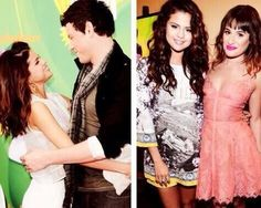 Cory Monteith n Lea Michele w/Selena Gomez...ur forever missed Cory!