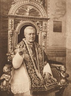 "Giuseppe Melchiorre Sarto  Pius X, the kind, unaffected, peasant Pope, has removed many prejudices from the Vatican. One day, soon after his election, he invited his secretary to dinner and made him take a seat at his own table. ""Your Holiness,"" remonstrated an old master of ceremonies, struck with amazement at the innovation, ""it is the custom for the Pope to dine by himself, in solitary grandeur!"" ""Well,"" calmly asked the Pope, ""and who established this custom?"" ""Urban VII, your Holiness"