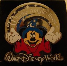 Mickey Mouse Where Magic Lives Walt Disney World Pin Trading Around The World