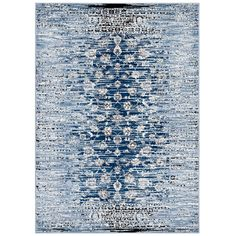 Chiara Distressed Floral Lattice Contemporary Area Rug - 8' x 10' | Overstock.com Shopping - The Best Deals on 7x9 - 10x14 Rugs