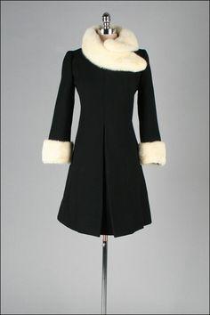 1960 tailored wool coat with mink fur trim!! LOVE LOOVE LOOOOVE!