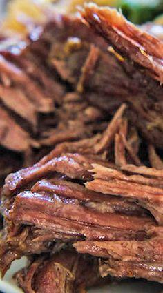 How to Make a Fall-Apart Roast (crock pot recipe)