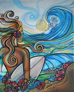 Duel for the Jewel, triple crown of surfing, colleen wilcox art, surf art