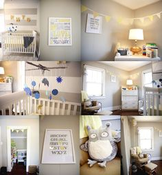cute grey and yellow nursery!