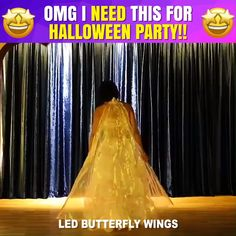 Leave everyone in awe with your butterfly wings! WINGSical™ LED Butterfly Wings provides you with high-quality LED lamp beads. Dance like you never did before and shine the brightest! Use it in any kind of dance – from belly dance to carnival performance. Halloween Tags, Costume Halloween, Halloween Outfits, Cool Costumes, Halloween Crafts, Halloween Party, Christmas Outfits, Christmas Fashion, Winter Fashion