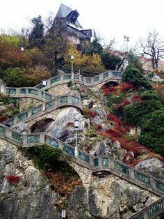 Escadaria de Schlossberg  na Áustria