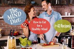 The MIND diet is a new brain-healthy diet that helps reduce Alzheimer& risk while boosting overall cognitive and mental health. Learn how, start now. Healthy Food Choices, Healthy Diet Plans, Diet Meal Plans, Healthy Drinks, Healthy Meals, Healthy Recipes, Healthy Brain, Healthy Mind, Brain Food