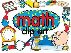 math clip art set with 150 images download preview for a FREEBIE