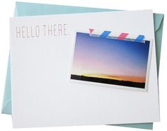 Stationery + tape + nice photo = perfect combo!