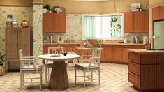 "Online decorating service Modsy recreated the house from ""The Golden Girls"" to show what it'd look like today. Top Gear, Golden Girls House, The Golden Girls, Chippendale Chairs, Rattan Coffee Table, Miami Houses, Green Table, Girl Decor, Girl House"