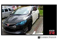 Honda Civic FD2R with an assortment of our carbon parts, carbon front bumper, front lip, fenders, bonnets, gt wing, rear boot and so on.... Race on...