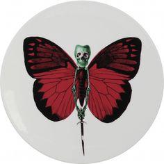 LEPIDOPTERA: le ceramiche disegnate dal leader del gruppo Pop inglese The Prodigy  http://designstreet.it/lepidoptera-teschi-e-farfalle/ #theprodigy #designstreetblog #design