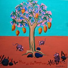 M is for Mouse....'Mice at the mango tree'