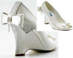 Crystal Wedge Wedding Shoes