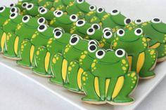Finished frog cookies celebrating Leap Year (2)