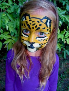 Face painting gepard