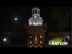 #Baylor University's Pat Neff Hall at night. Serene beauty, especially when the bells are chiming. (click to watch video) #sicem