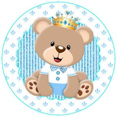Kit de Osito Príncipe para Imprimir Gratis. Dibujos Baby Shower, Imprimibles Baby Shower, Baby Shower Invitaciones, Baby Shower Backdrop, Baby Shower Cakes, Teddy Bear Baby Shower, Baby Boy Shower, First Birthday Banners, Boy Birthday