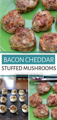 Bacon Cheddar Stuffed Mushroom The best-Stuffed Mushroom recipe with bacon and cheese! It is the perfect fall snack for a party that is so darn delicious and will make you cook another batch soon. Save this easy stuffed mushroom recipe for later! Recipes With Bacon And Cheese, Bacon Recipes, Appetizer Recipes, Cooking Recipes, Bacon Appetizers, Uk Recipes, Salad Recipes, Wedding Appetizers, Appetizer Ideas