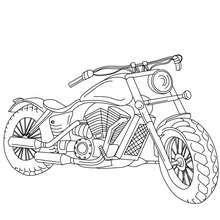 Harley Davidson coloring page - Coloring page - TRANSPORTATION coloring pages - MOTORCYCLE coloring pages