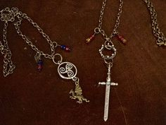 BBC MERLIN Arthur and Merlin Friendship Necklaces