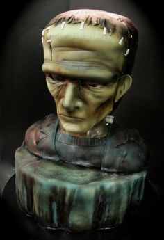Realistic Frankenstein cake...well done