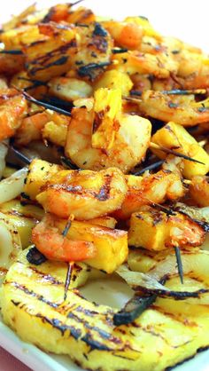 Inspired By eRecipeCards: Grilled Teriyaki Pineapple Shrimp Appetizer for Food Blogger PARTY on the Lake