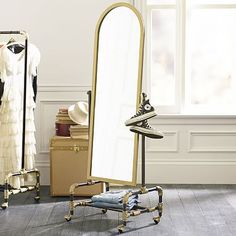 Ignore where this is from!!!! The mirror is fab!!! The Emily & Meritt Floor Mirror #pbteen