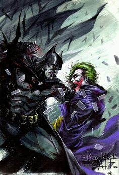 #Batman #Fan #Art. (Batman vs Joker) By: Francesco Mattina. (THE * 5 * STÅR * ÅWARD * OF * MAJOR ÅWESOMENESS!!!™)