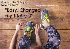 """21 Day Fix """"Changed My Life!"""" In need of a life change and accountability?! Click the image for more information #support #motivation #accountability #lifechange #21dayfix #athomeworkout #workout"""