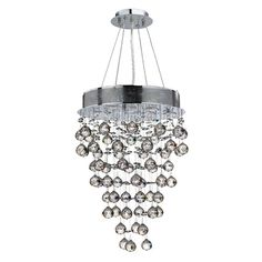 Features:  -Chandelier.  -Number of lights: 7.  -Premier crystal glass material.  -Surface mount.  -UL listed.  -Dressed with our 30% premier lead crystal.  Product Type: -Mini chandelier/Crystal chan