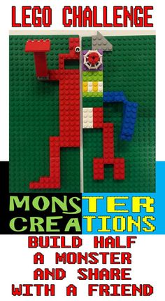 Lego Club Idea for Libraries–Monsters Creations: Create Half a Monster and Share with a Friend! Lego Club Idea for Libraries–Monsters Creations: Create Half a Monster and Share with a Friend! Lego Halloween, Halloween Club, Halloween 2015, Lego Games, Lego Toys, Lego Lego, Lego Batman, Stem Activities, Activities For Kids