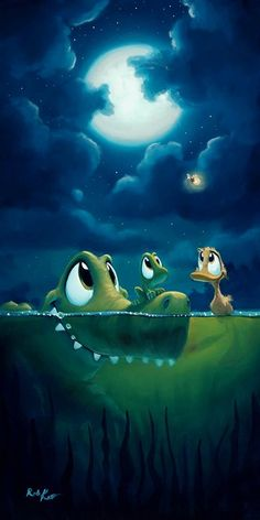 Friends Along The Way by artist Rob Kaz Cute Animal Drawings, Cute Drawings, Cute Illustration, Character Illustration, Cute Images, Cute Pictures, Cute Cartoon, Cartoon Art, Fantasy Character