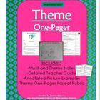 Use these thorough notes and this fun project to teach theme using any story or novel. It works best for the students to do this assignment in part...