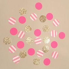 225 Pink Paris Mix Confetti Glitter Confetti by JBPartyCreations