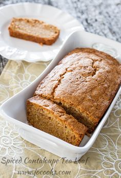 Melons aren't the greatest keepers so this spiced cantaloupe tea loaf is the perfect destination for any melon abundance. Melon Recipes, Fruit Recipes, Muffin Recipes, Bread Recipes, Baking Recipes, Brunch Recipes, Cantaloupe Recipes Breakfast, Recipes Using Cantaloupe, Cookies